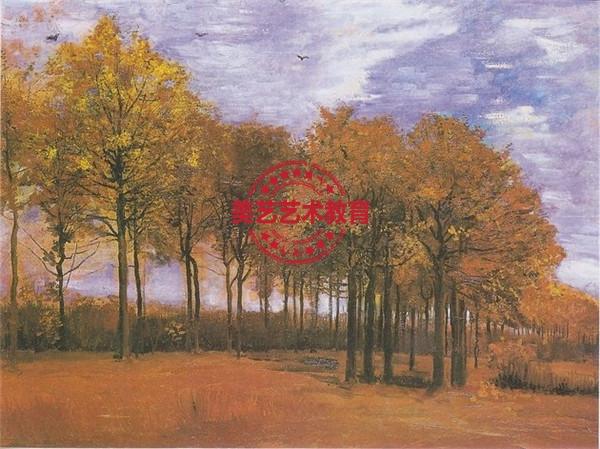 文森特·凡高的作品《秋天的风景》,创作于1885年