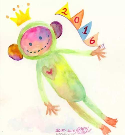 邮票 / 16年的邮票比04年多了一只小猴子,这才叫可爱好嘛!